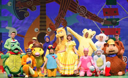 he entire cast of 'Storytime Live!', including Dora in her princess costume! Photo Credit: Carol Rosegg